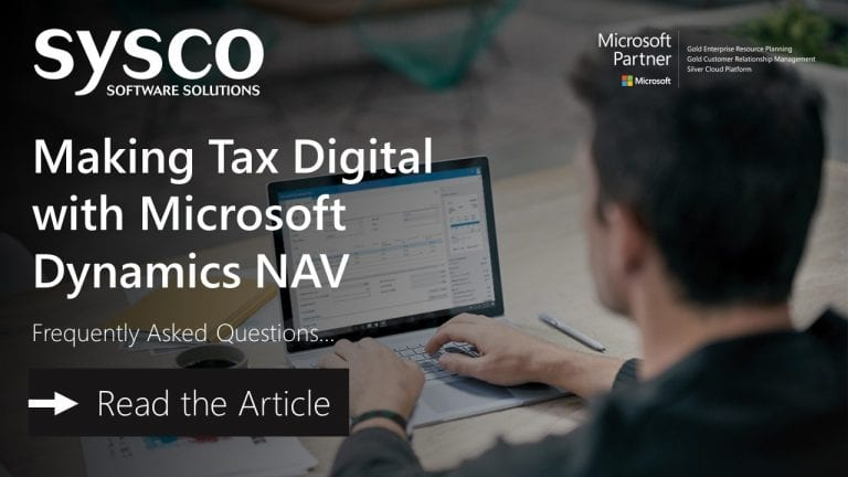 Making Tax Digital Microsoft Dynamics NAV