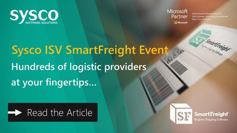 Sysco Software SmartFreight Event for Microsoft Dynamics 365 Business Central and NAV